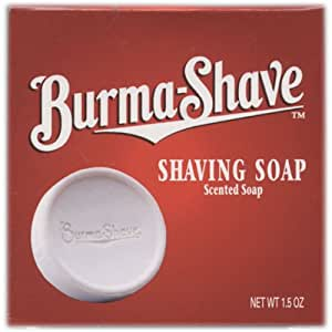 Burma Shave Shaving Soap Scented Soap 1.5 Oz