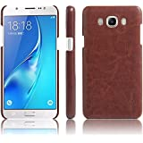 Octer Cover For Samsung Galaxy J5 (2016) Leather Back Cover (Brown)