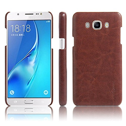 Vegus Cover For Samsung Galaxy J5 (2016) Leather Back Cover (Brown)