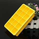 """Silicone 15 Square Cube Ice Tray Mold Pudding Jelly Mould Party Bar (Yellow)"" shopping"