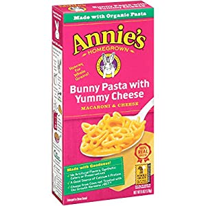 Annie's Homegrown Bunny Shape Pasta & Yummy Cheese Mac & Cheese,  6 Ounce Boxes (Pack of 12)