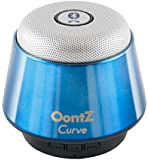 OontZ Curve Bluetooth Speaker Ultra Portable Wireless Full 360 Degree Sound with Built in Speakerphone works with iPhone iPad tablet Samsung and smart phones - Metallic Blue