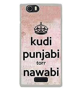 Kudi Punjabi 2D Hard Polycarbonate Designer Back Case Cover for Micromax Canvas Nitro 2 E311