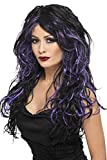 Smiffys Gothic Bride Wig Costume, Black/Purple, One Size