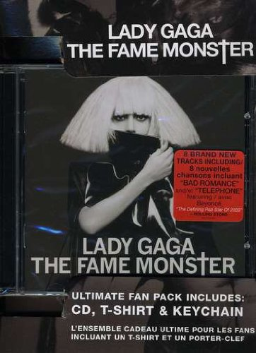 Lady GAGA ULTIMATE Fan Pack (T-shirt, Keychain, CD Fame Monster) in box set
