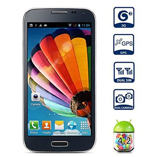 "Unlocked HTM M1 4.7"" Android 4.2 3G Smartphone(Dual Core 1.3GHz,WiFi,Bluethooth,Dual SIM) (White)"