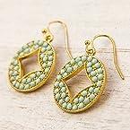 Mint Diamond Cutout Earrings