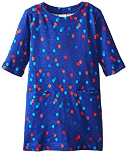 Egg by Susan Lazar Little Girls' Shift Dress, Blue, 3T