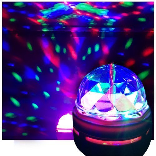 LED Disco Party Bulb, Disco Light, DJ Light for Party's, Chrystal Ball Effect - Ships from USA (Dj Lights Bulbs compare prices)