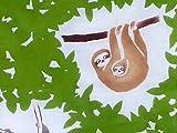 【 戸田屋商店 梨園染 】 注染 手ぬぐい 「 ミツユビナマケモノ 」
