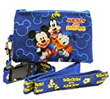 Disney Mickey Mouse and Friends Blue Lanyard with Coin Purse
