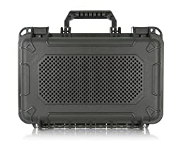 AudioActiv VAULT XL Waterproof, Shockproof Hard Cover Travel Case for Jawbone BIG JAMBOX Bluetooth Speaker (Black)