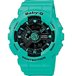 Casio Women's BA-111-3ACR Baby-G Analog-Digital Display Quartz Green Watch by Casio