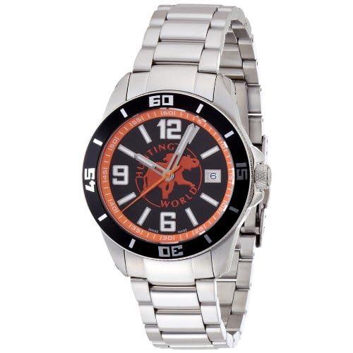 [ハンティングワールド]HUNTING WORLD 腕時計 オーシャンブリーズ SS×ブラック(オレンジ) クォーツ 20気圧防水 替えラバーベルト2本付き メンズ HW918BKOR メンズ 【正規輸入品】