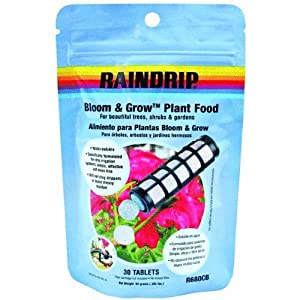 Raindrip R680CB 30-Count Bloom and Grow Plant Food Tablets 15-15-15