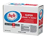 HTH 59419 Super Shock and Swim Powder for Swimming Pools, 1-Pound, 10-Pack