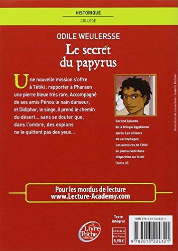 Le secret du papyrus (Le Livre de Poche Jeunesse)
