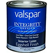 Valspar 004.6012124.005 Integrity Eggshell Latex Interior Wall Paint And Primer In One Paint
