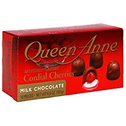 Queen Anne Cordial Cherries, Milk Chocolate, 6-Ounce Boxes (Pack of 12)