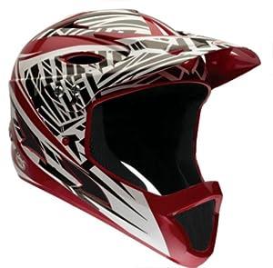 Bell Youth Full-Face Exodus Helmet, Red Gloss Shrapnel by Bell
