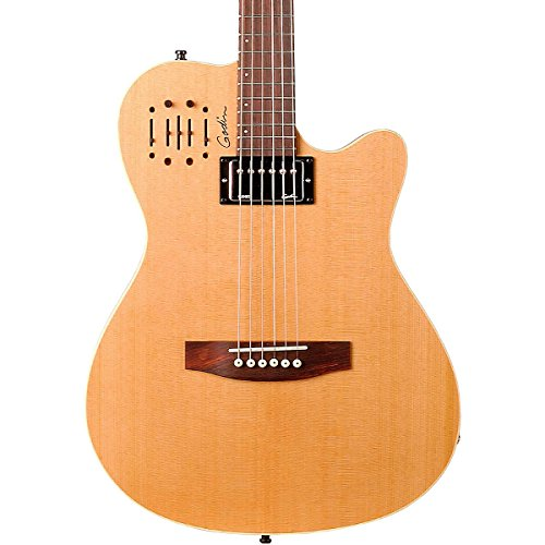 Godin A6 Ultra Semi-Gloss Semi-Acoustic-Electric Guitar Natural Cedar (Natural Cedar)