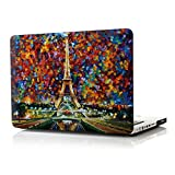 iCasso New Art Fashion Image Series Ultra Slim Light Weight Rubberized Hard Case Glossy Clear Crystal Snap-On Hard Cover Case for MacBook Pro 15 inch (Model: A1286) - Paris of My Dream