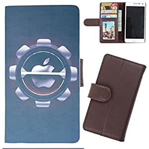 DooDa - For iPhone 6 PU Leather Designer Fashionable Fancy Wallet Flip Case Cover Pouch With Card, ID & Cash Slots And Smooth Inner Velvet With Strong Magnetic Lock