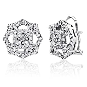 14K WHITE GOLD 0.71CTW DIAMOND EARRING