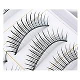 SODIAL(R) 10 Pairs of Reusable Natural & Regular Long False Eyelashes