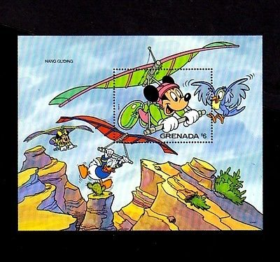 GRENADA - 1992 - DISNEY - MICKEY - DONALD - HANG GLIDING - 1