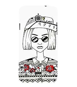 EPICCASE Artistic Girl portrait Mobile Back Case Cover For InFocus M350 (Designer Case)