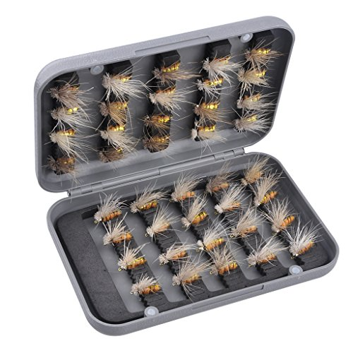Gimilife FH 40pcs Fishing Lure Trout Pan Fish Nip Fishing Flys Bait With Professional ABS Box (Fish Lure Containers compare prices)