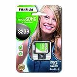 Fujifilm P10NM00780A MicroSDHC 32GB Class 4 Memory Card with SD Adapter