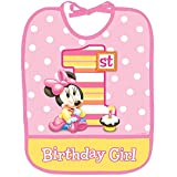 Minnie's 1st Birthday Baby Bib