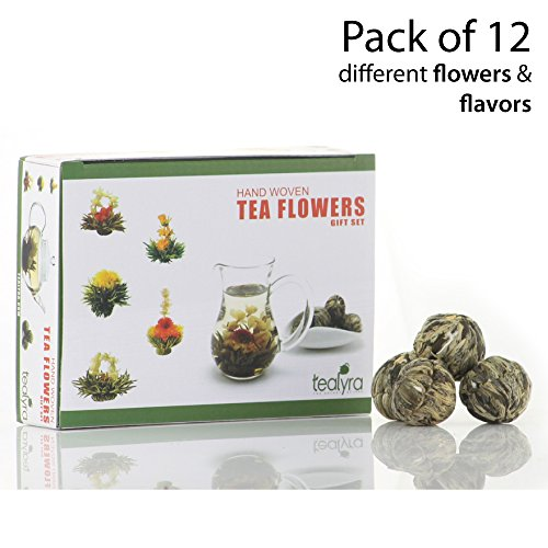 12 Blooming Flowering Green Tea Gift Box (Variety Flavors)