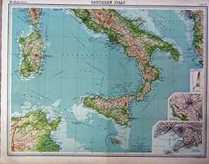 120 Karte Süd-Italien Scilly, Sardinien