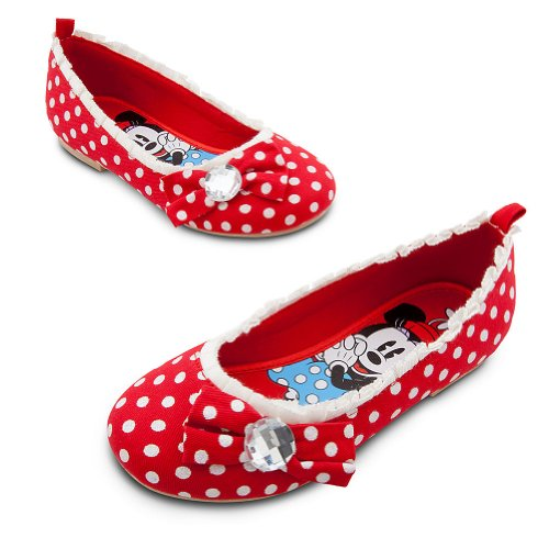 Disney Store Minnie Mouse Red Ballet Flats/Shoes/Slippers (Toddler Size 10)