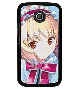 Printvisa Little Girl In Pink And Blue Back Case Cover for Motorola Moto E XT1021::Motorola Moto E (1st Gen)