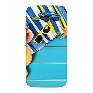 Enticing Cool Beach Print Back Case Cover for Moto G