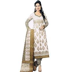 V-Kart Women's Cotton Unstitched Dress Material (Vkart_348_Red_Free Size)