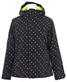 Burton Society Jacket True Black Polka Square Print Womens Sz S