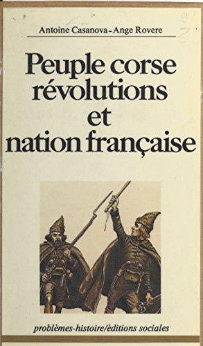 Peuple corse : Révolutions et nation française