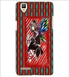 PrintDhaba Sweet Girl D-3084 Back Case Cover for OPPO F1 (Multi-Coloured)