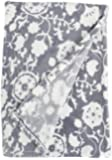 Northpoint Ruya Oversized Printed Velvet Plush Throw Blanket, 50 by 70-Inch, Floral