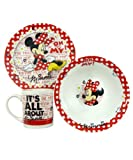 Disney Minnie Mouse 'Oh My' Breakfast set - Bowl, Plate and Cup