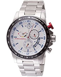 GV2 by Gevril Men's 9908 Scuderia Analog Display Quartz Silver Watch