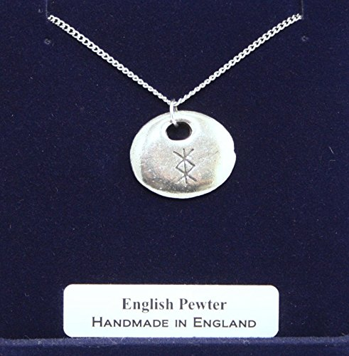 Viking Protection Rune Pendant Necklace In Fine English Pewter (Gift Boxed)