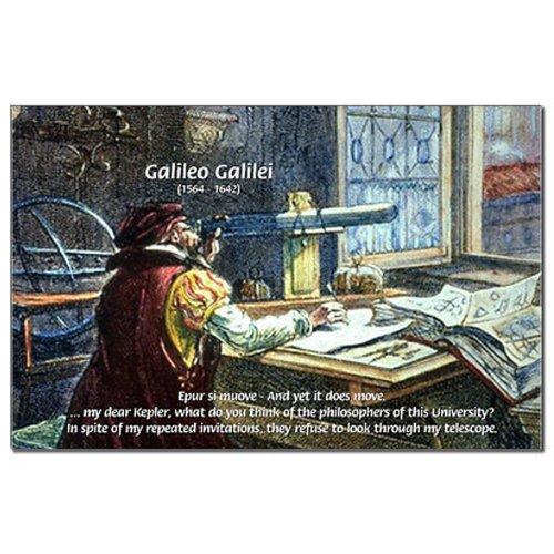 Cafepress Stubborn Resistance Galileo Mini Poster Print