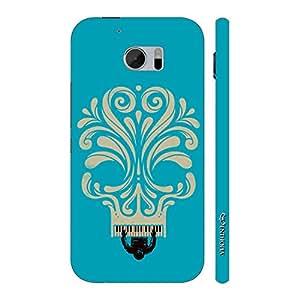Enthopia Designer Hardshell Case Blue Piano Skull Back Cover for HTC One M10