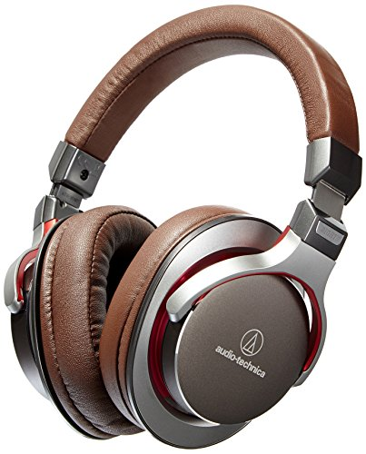 Audio-Technica ATH-MSR7GM SonicPro Over-Ear High-Resolution Audio Headphones, Gun Metal Gray